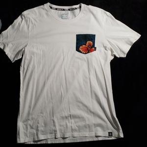 Adidas front pocket tee shirt
